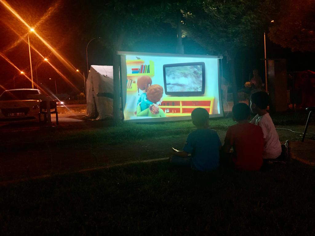 AFAD EĞİTİM ÇADIRINI FISTIKLI PARK'A KURDU
