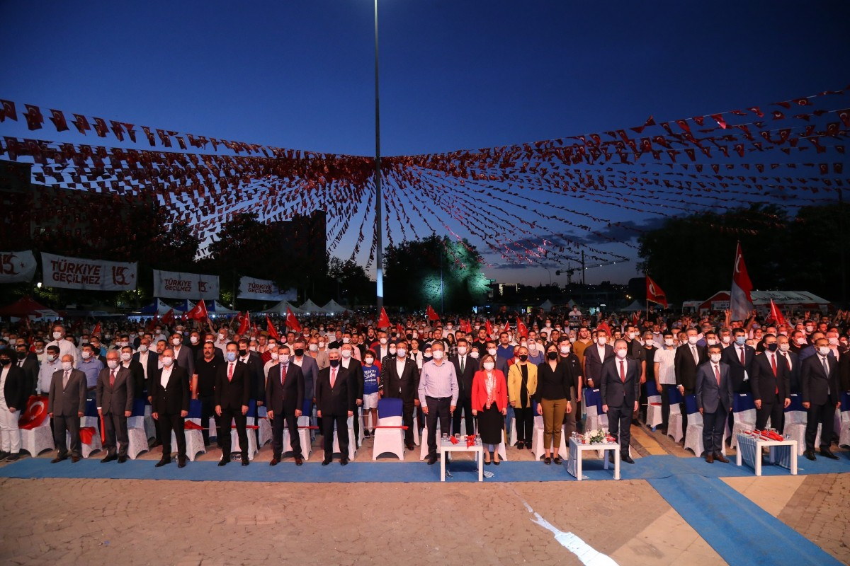 GAZİANTEP'TE 15 TEMMUZ DEMOKRASİ VE MİLLİ BİRLİK GÜNÜ ANMA ETKİNLİĞİ!