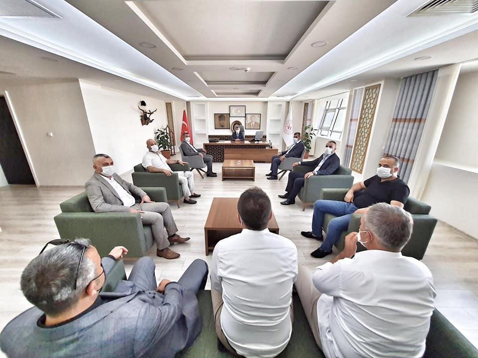 MHP'DEN METİN PEHLİVAN'A HOŞ GELDİN ZİYARETİ