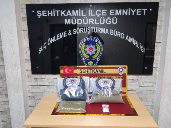 GAZİANTEP'TE UYUŞTURUCU OPERASYONU: 5 GÖZALTI